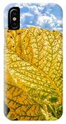 The Golden Leaf IPhone Case