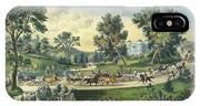 The Grand Drive, Central Park, New York, 1869 IPhone Case
