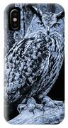 Majestic Great Horned Owl Bw IPhone Case