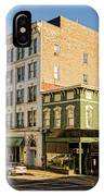 The Green Building On The Corner IPhone Case