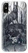 The Hare And The Frogs IPhone Case