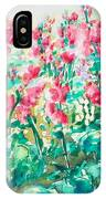 The Hollyhock Field IPhone Case