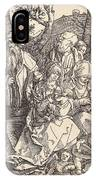 The Holy Family With Two Music-making Angels IPhone Case