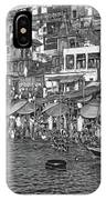The Holy Ganges - Paint Bw IPhone Case