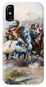 The Indian Encirclement Of General Custer At The Battle Of The Little Big Horn IPhone Case