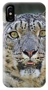 The Intense Stare Of A Snow Leopard IPhone Case