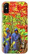 The Joys Of Autumn Camping - Paint IPhone Case