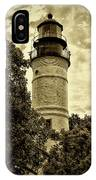 The Key West Lighthouse In Sepia IPhone Case