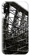 The Kinsol Trestle Panorama View On Snowy Day 1. IPhone Case