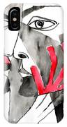 The Kiss In Red IPhone Case