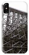 The  Koksilah River Trestle With Snow 1. IPhone Case