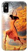 The Last Dance Of Autumn - Fantasy Art  IPhone Case