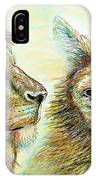The Lion And The Fox 3 - To Face How Real Of Faith IPhone Case