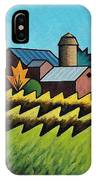 The Little Farm On The Grassy Hill IPhone Case