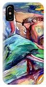 The Lovers Watercolor IPhone Case