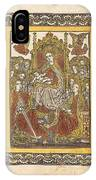 The Madonna Enthroned With Eighteen Holy Women IPhone Case