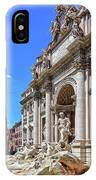 The Majesty Of The Trevi Fountain In Rome IPhone Case