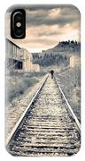 The Man On The Tracks IPhone Case