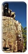 The Many Faces Of Bayon Temple, Angkor Thom, Angkor Wat Temple Complex, Cambodia IPhone Case