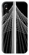 The Margaret Hunt Hill Bridge In Dallas IPhone Case by Robert Bellomy