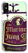 The Mariner King Inn Sign IPhone Case