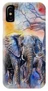 The Masai Mara Elephants IPhone Case
