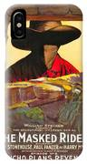 The Masked Rider 1919 IPhone Case