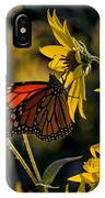 The Monarch And The Sunflower IPhone Case