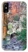 The Narrows Of The Virgin River  IPhone Case