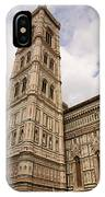 The Neo Gothic Facade Of The Duomo In Florence IPhone Case