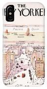 The New Yorker - Magazine Cover - Vintage Art Nouveau Poster IPhone Case