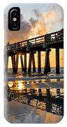 Naples Pier At Sunset Naples Florida Ripples IPhone Case