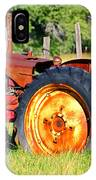 The Old Tractor In The Field IPhone Case
