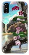 The Orchids And The Sailboat IPhone Case