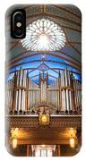 The Organ Inside The Notre Dame In Montreal IPhone Case