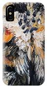 The Owl Of Lakshmi Textured Painting_0476 IPhone Case