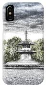 The Pagoda In The Snow IPhone Case