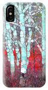 The Pale Trees Of Winter IPhone Case