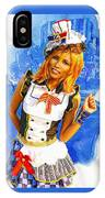 The Patriotic Fashion Girl IPhone Case