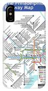 The Philadelphia Pubway Map IPhone Case