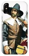 The Pilgrim Fathers Arrive In America IPhone Case