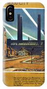 The Proud City - London Underground, London Metro - Retro Travel Poster - Vintage Poster IPhone Case