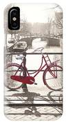 The Red Bicycle Of Amsterdam IPhone Case