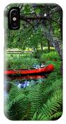The Red Canoe On The Lake IPhone Case