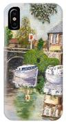 The Red Lion Inn By The Riverbank IPhone Case