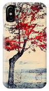 The Red Tree At Okanagan Lake IPhone Case