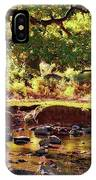 The River Lin , Bradgate Park IPhone Case