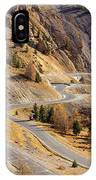 The Road To Izoard Pass - 2 - French Alps IPhone Case