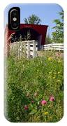 The Roseman Bridge In Madison County Iowa IPhone Case