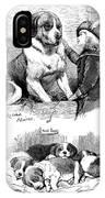 The Saint Bernard Club Dog Show IPhone Case